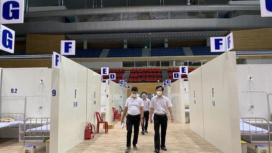 Cận cảnh bệnh viện dã chiến Tiên Sơn - Đà Nẵng trước giờ tiếp nhận bệnh nhân