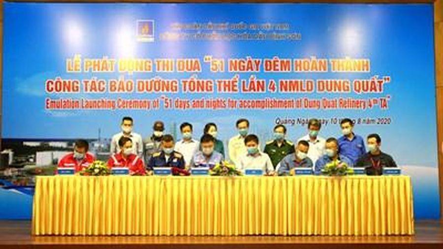 BSR phát động thi đua '51 ngày đêm hoàn thành công tác BDTT lần 4 NMLD Dung Quất'