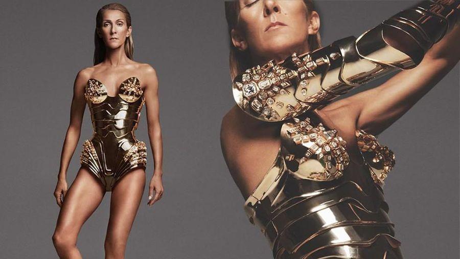 Celine Dion 52 tuổi diện bodysuit lộ dáng khẳng khiu
