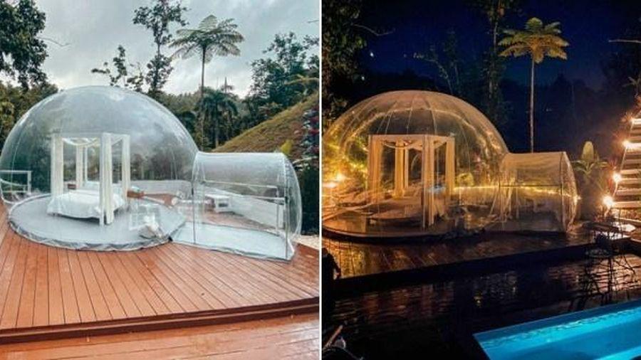 Căn phòng bong bóng giữa đồi cây hút khách du lịch ở Puerto Rico
