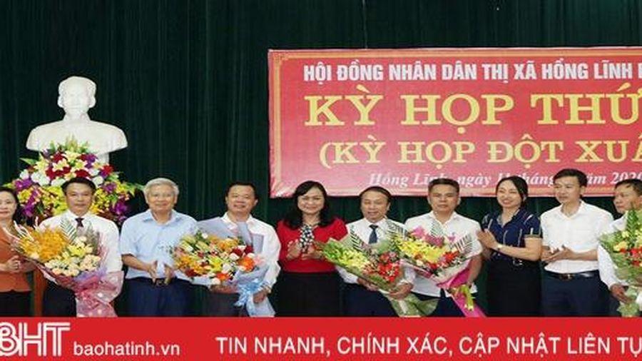 Hồng Lĩnh bầu bổ sung Chủ tịch HĐND và Chủ tịch UBND thị xã