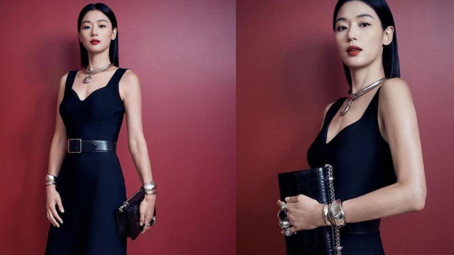 'Mợ chảnh' Jun Ji Huyn đẹp không góc chết khi xuất hiện tại sự kiện thời trang của nhà mốt Anh