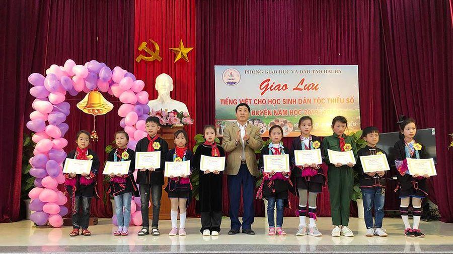 'Tăng cường tiếng Việt cho trẻ em vùng DTTS'