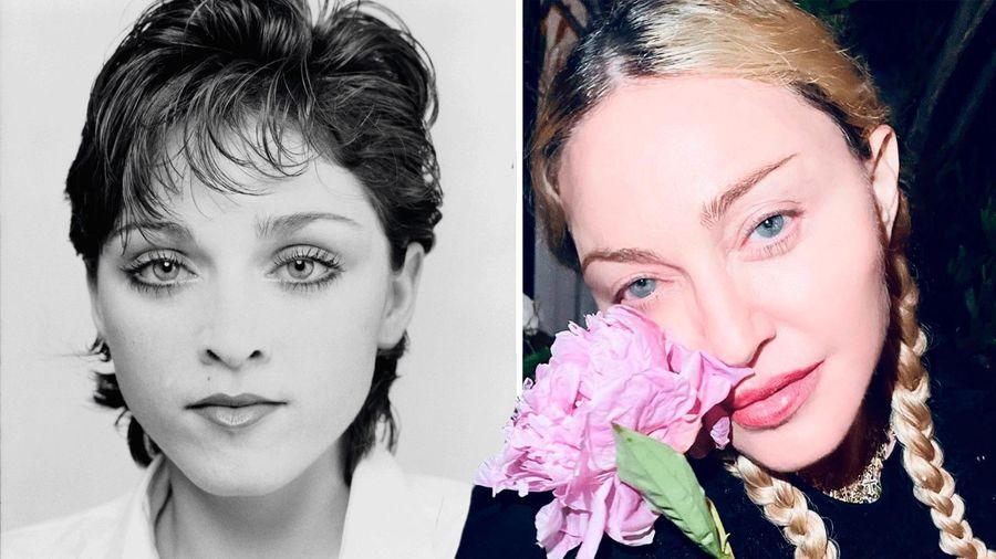 Dung nhan 'biến hóa' theo thời gian của 'nữ hoàng nhạc Pop' Madonna