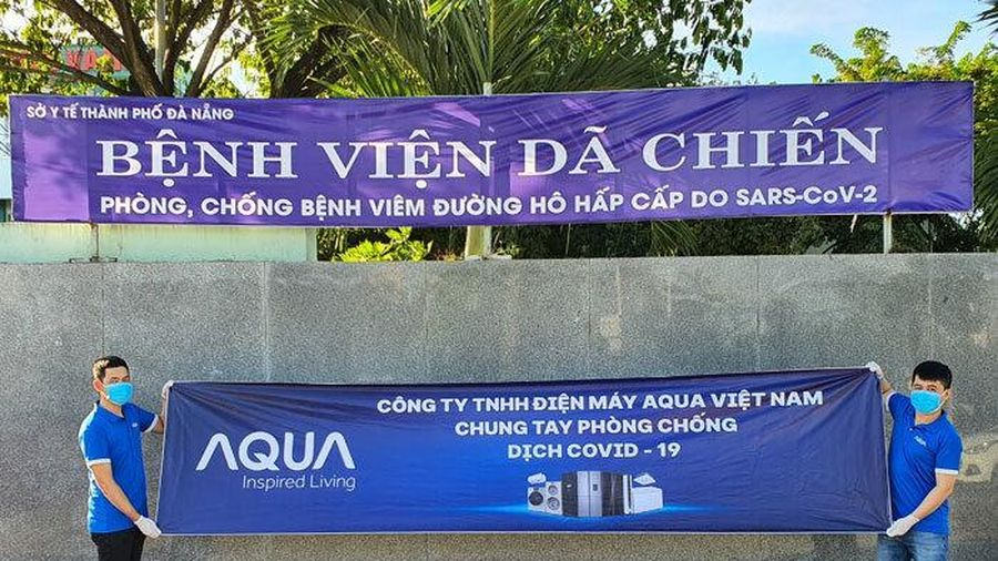 Aqua Việt Nam tặng tủ lạnh, máy giặt cho 14 bệnh viện chống dịch ở Đà Nẵng