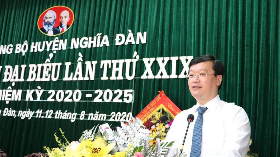 Chủ tịch UBND tỉnh: Đưa Nghĩa Đàn trở thành trung tâm kinh tế nông nghiệp ứng dụng cao của Nghệ An
