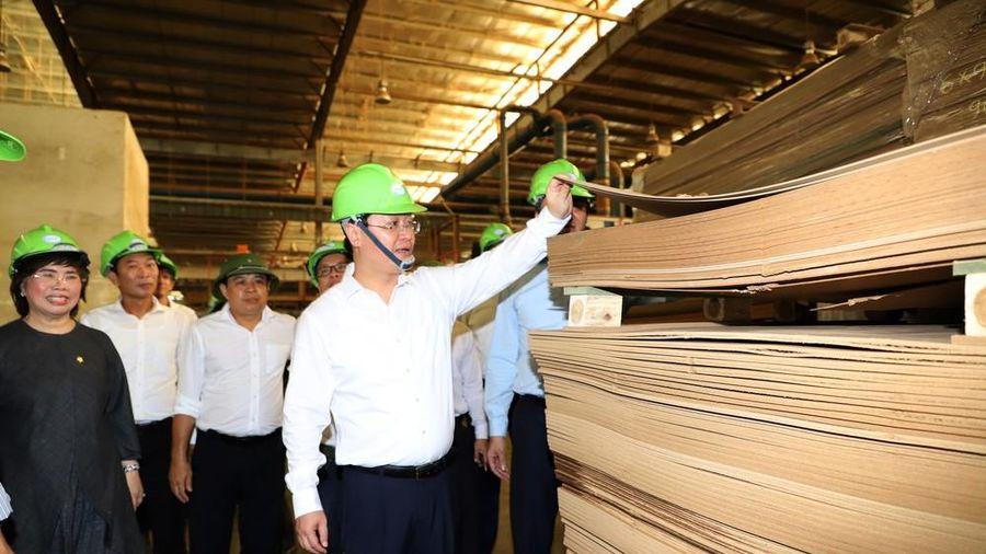 Chủ tịch UBND tỉnh Nguyễn Đức Trung thăm các mô hình kinh tế ứng dụng công nghệ cao ở Nghĩa Đàn