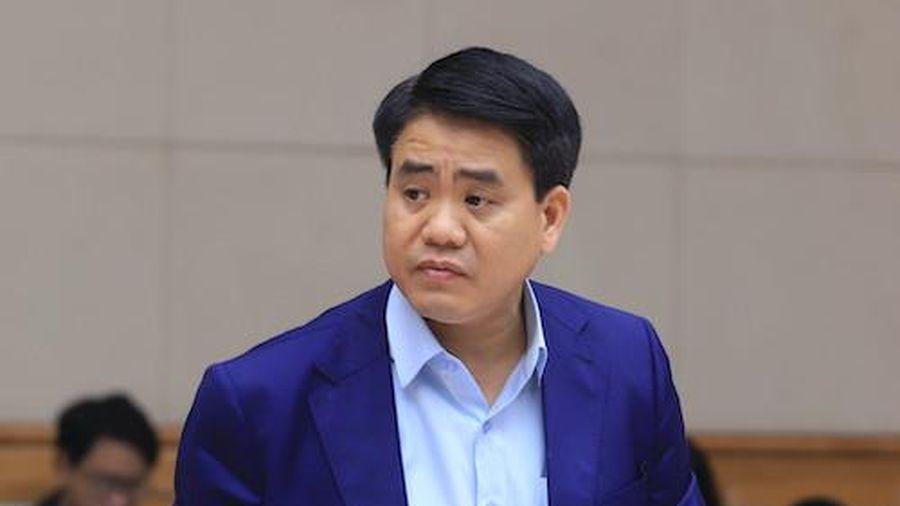 Tạm đình chỉ công tác đối với Chủ tịch UBND thành phố Hà Nội Nguyễn Đức Chung