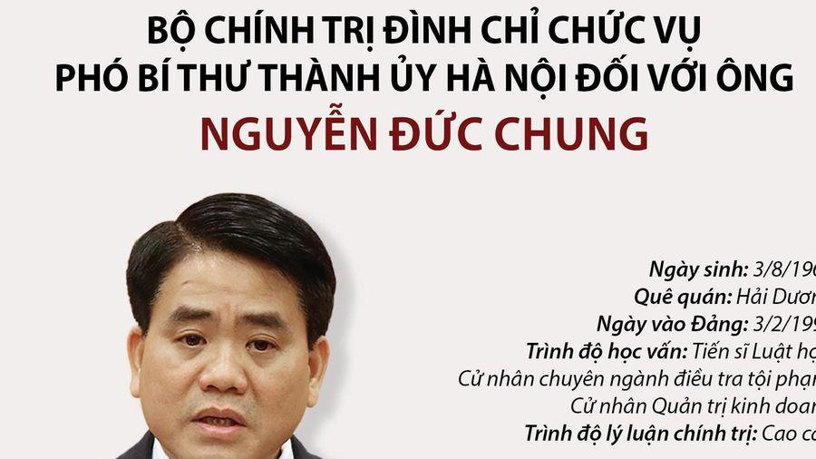 Đình chỉ các chức vụ đối với ông Nguyễn Đức Chung