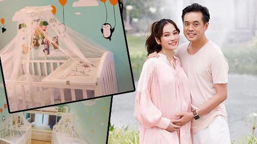 Vợ chồng Dương Khắc Linh trang trí phòng cực dễ thương chuẩn bị đón 2 nhóc tỳ