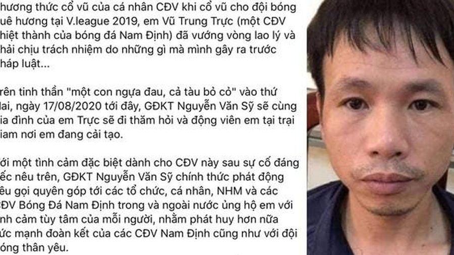 CLB Nam Định gây sốc khi kêu gọi quyên góp cho kẻ bắn pháo gây thương tích bị phạt tù, CĐV cạn lời: 'Không đá bóng nên diễn hài à'
