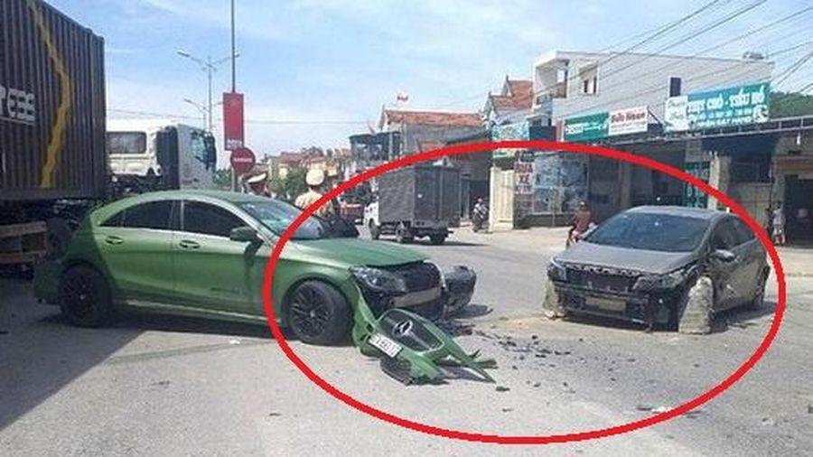 Xe tải đâm vào ôtô gây tai nạn liên hoàn