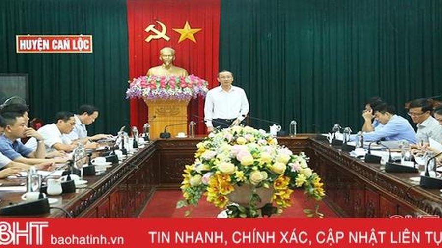 Can Lộc cần đẩy nhanh tiến độ giải ngân vốn đầu tư công