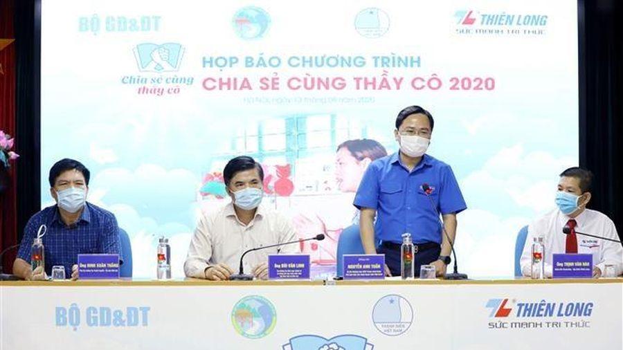 Phát động chương trình Chia sẻ cùng thầy cô năm 2020