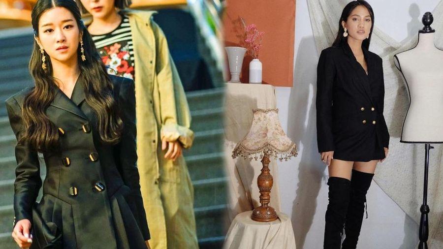 Nữ blogger hút like rầm rầm khi copy style của 'Điên nữ' Seo Ye Ji