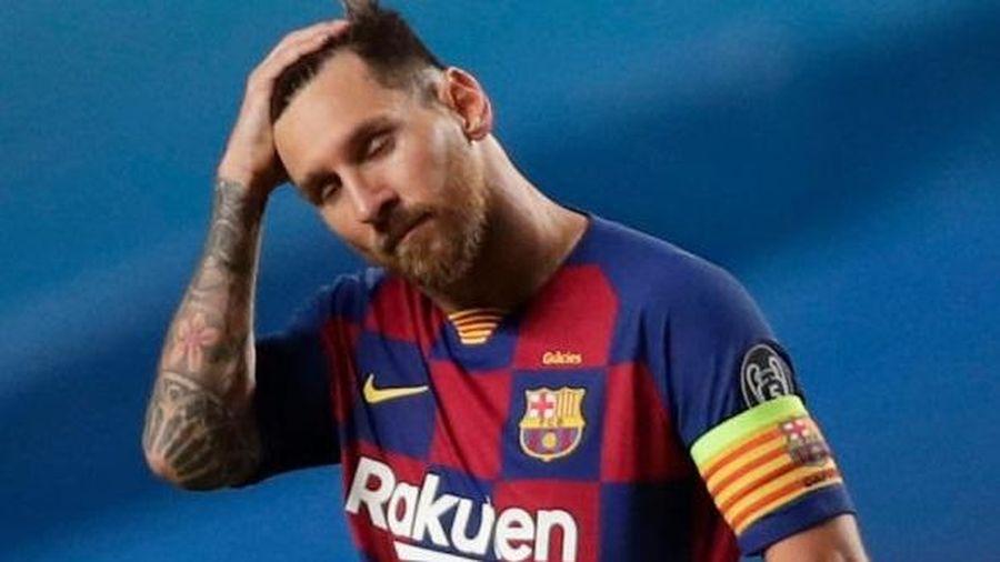 Messi chết lặng sau thất bại 2-8 của Barca trước Bayern