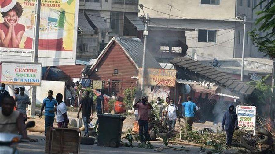 Bờ Biển Ngà: Biểu tình phản đối Tổng thống tái tranh cử, ít nhất 5 người thiệt mạng và hơn 100 người bị thương