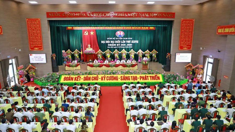 Đảng bộ huyện Nam Đàn khai mạc phiên chính thức Đại hội đại biểu lần thứ XXVII, nhiệm kỳ 2020 - 2025
