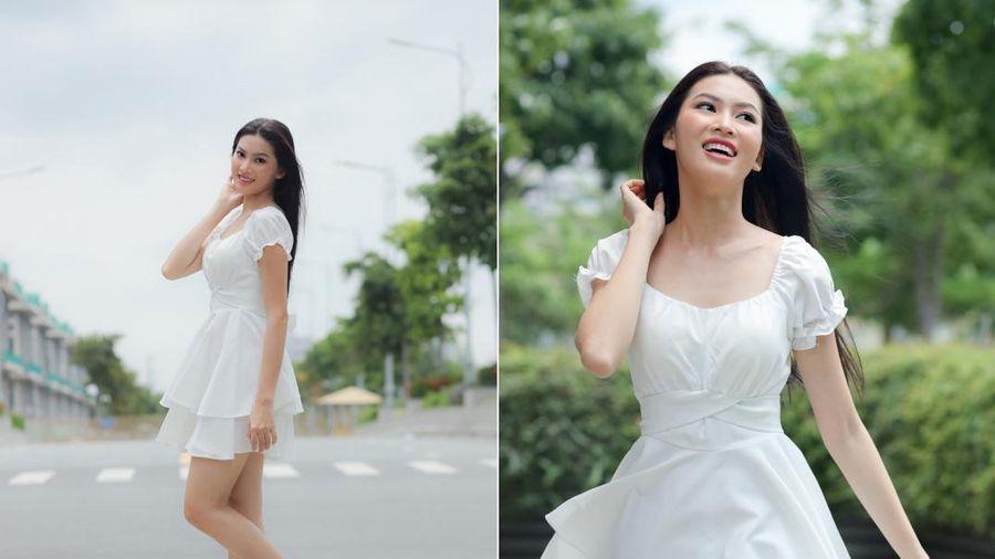 Ngắm thiếu nữ chân dài 1,11 m thi Hoa hậu Việt Nam 2020