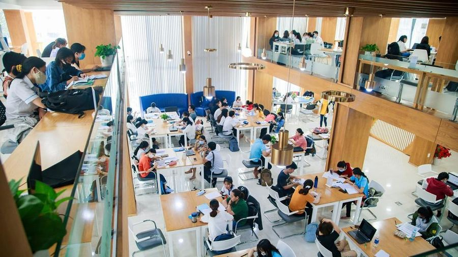 Thư viện 'đẹp nhất Việt Nam' ở trường ĐH Công nghiệp thực phẩm TP.HCM.