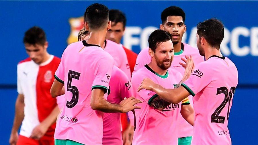 Highlights Barca 3-1 Girona: Messi tỏa sáng
