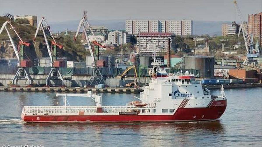 Tàu thứ hai của Gazprom đến Đức để hoàn thành Dòng chảy Phương Bắc 2