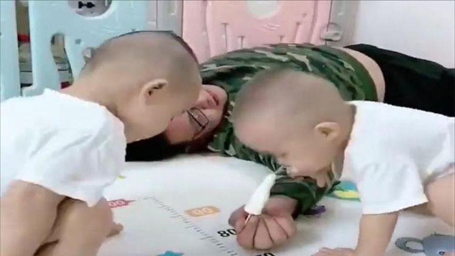 Giả vờ ngất thử lòng 2 con trai, ông bố nhận cái kết tổn thương
