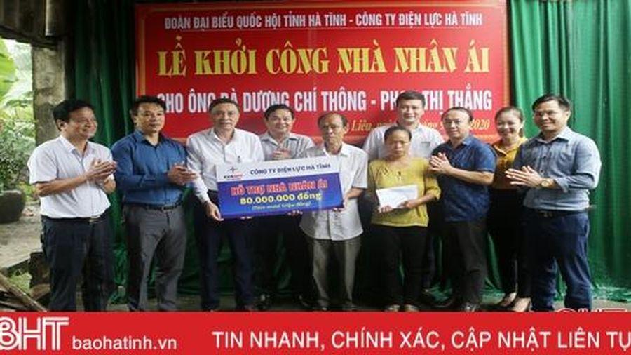 Xây nhà nhân ái cho cựu chiến binh có hoàn cảnh khó khăn ở TX Hồng Lĩnh