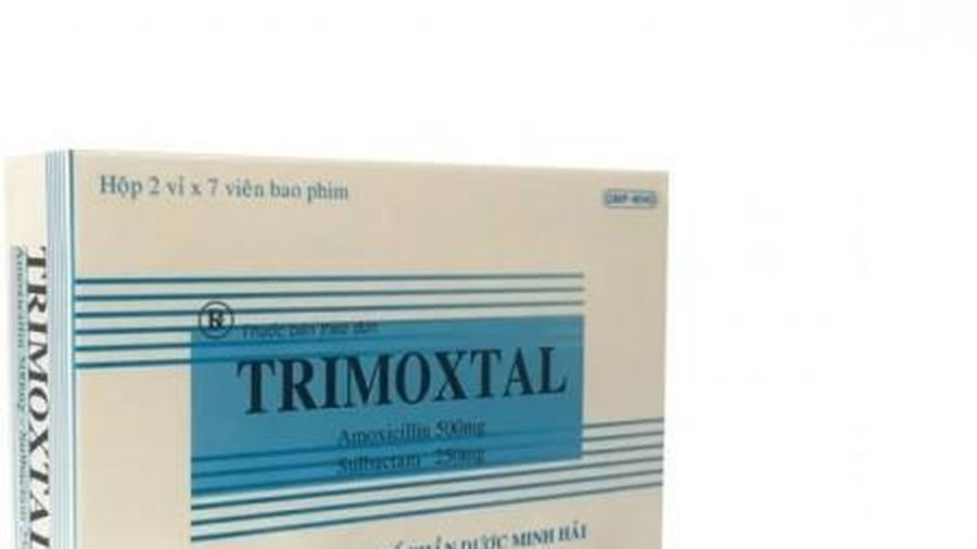 Thuốc kháng sinh Trimoxtal bị thu hồi trên toàn quốc