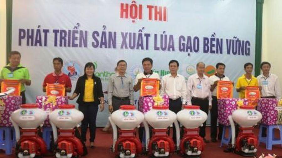 Đội Vĩnh Thạnh 2 đoạt giải nhất Hội thi sản xuất lúa gạo bền vững