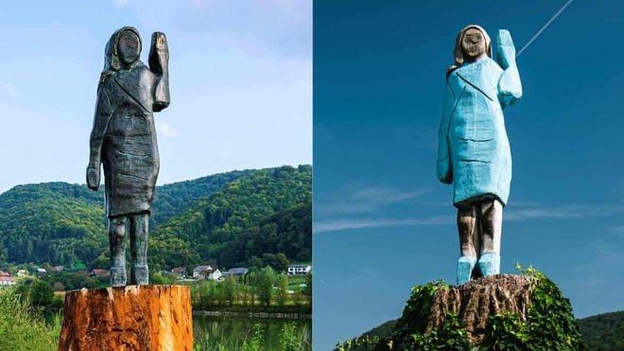 Bức tượng bà Melania Trump được phục dựng tại quê nhà