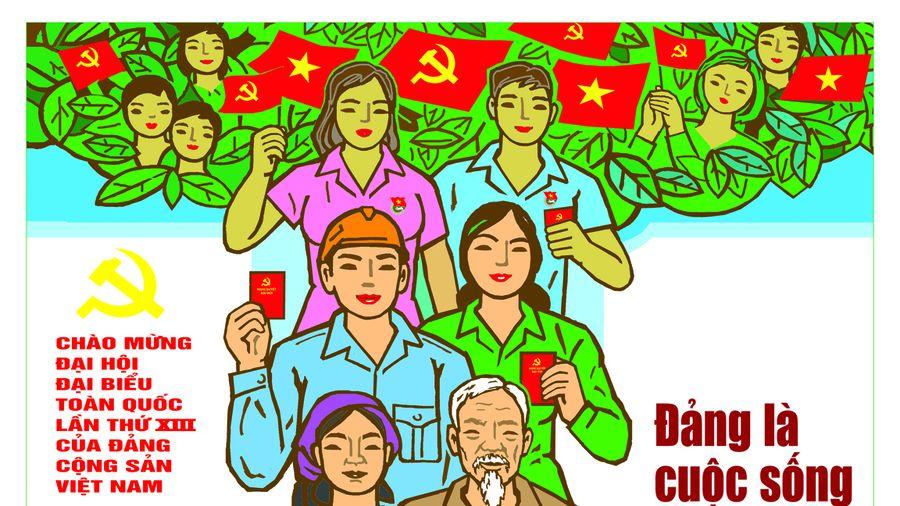 Bộ VHTTDL triển lãm tranh cổ động tuyên truyền Đại hội XIII của Đảng