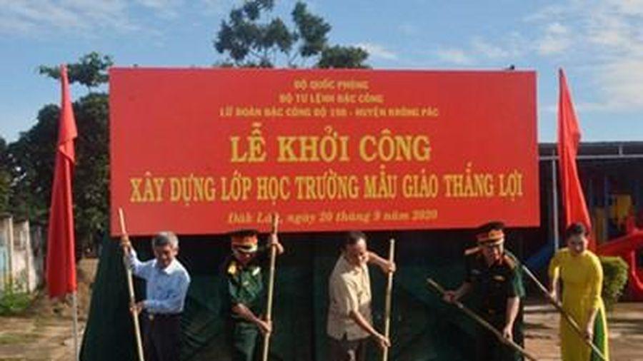 Lữ đoàn Đặc công 198 khởi công xây dựng phòng học tặng Trường Mầm non Thắng Lợi