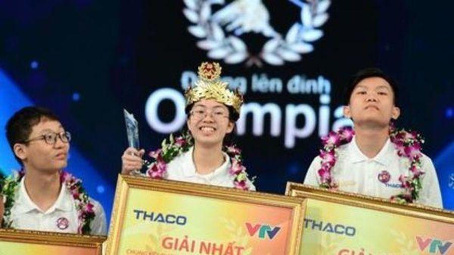 Nữ sinh Nguyễn Thị Thu Hằng trở thành nhà vô địch Olympia 2020