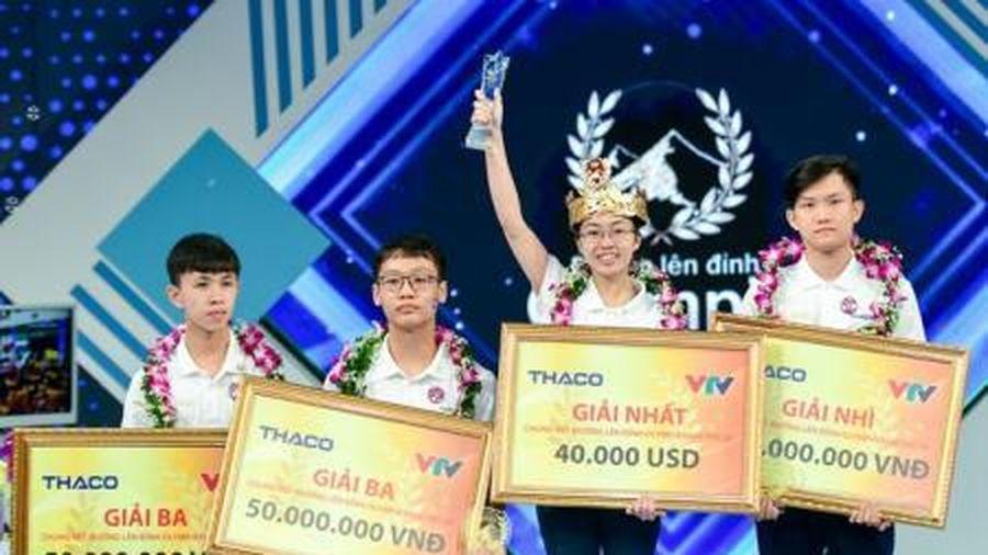 Nữ sinh Ninh Bình xuất sắc đoạt quán quân Đường lên đỉnh Olympia 2020