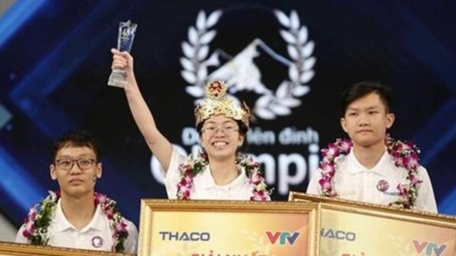 Nữ sinh Ninh Bình trở thành nhà vô địch Đường lên đỉnh Olympia 2020