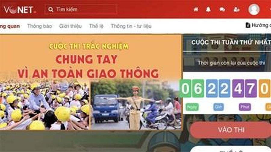 128.828 lượt dự thi trắc nghiệm 'Chung tay vì an toàn giao thông' tuần thứ hai