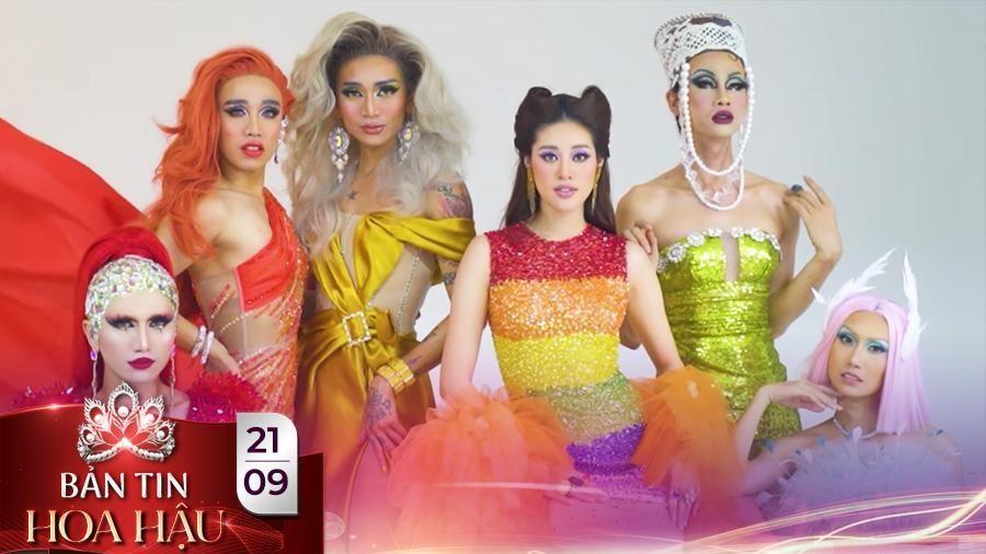 Khánh Vân hóa Drag Queen lộng lẫy hội ngộ Lynk Lee - BB Trần - Hải Triều tôn vinh cộng đồng LGBTIQ