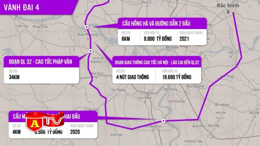 Xây dựng dự án đường vành đai 4 - Vùng Thủ đô hơn 66.500 tỷ đồng