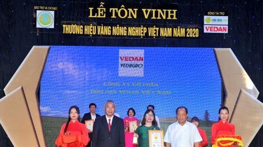 2 sản phẩm Vedan 5 năm liên tiếp đạt 'Thương hiệu vàng nông nghiệp Việt Nam'