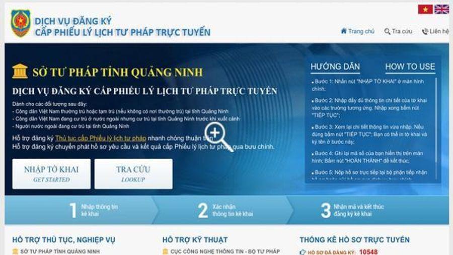 Quảng Ninh ứng dụng phần mềm hỗ trợ tra cứu, xác minh thông tin Lý lịch tư pháp