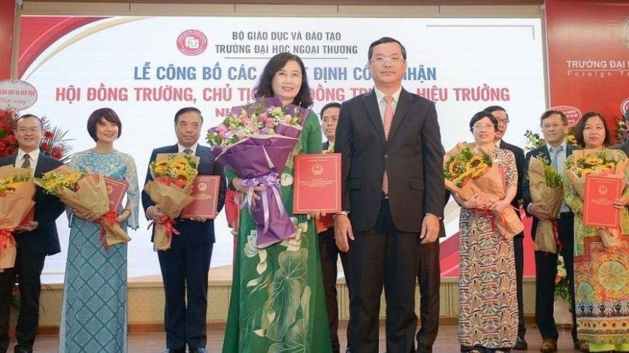 Công bố các vị trí lãnh đạo Trường ĐH Ngoại thương nhiệm kỳ mới