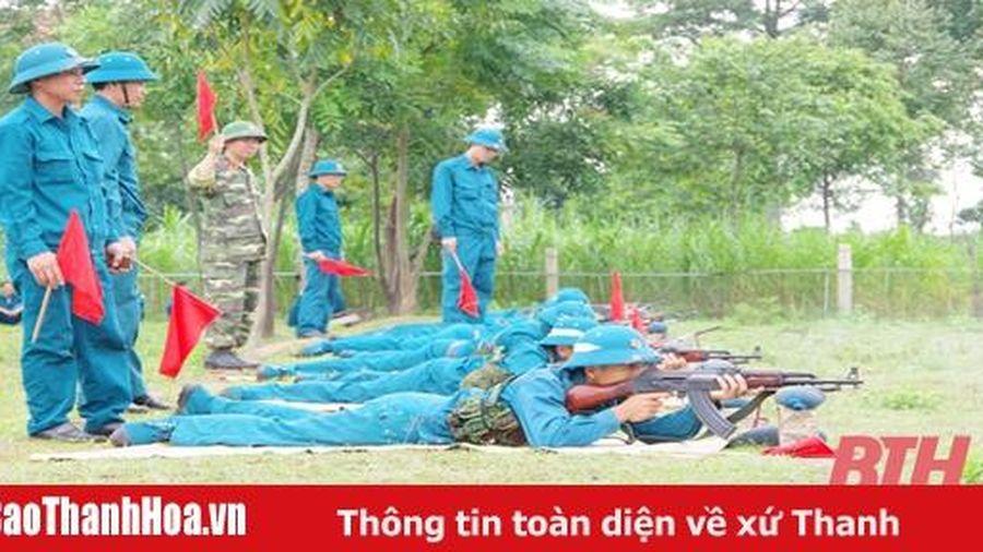 Ban Chỉ huy quân sự huyện Nga Sơn kiểm tra bắn đạn thật