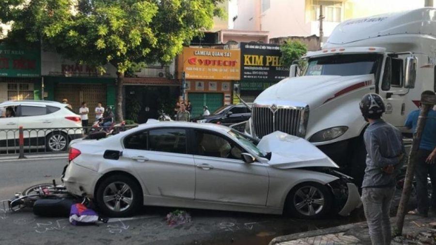 Thông tin mới nhất vụ xe container mất lái tông nhiều người ở TP.HCM
