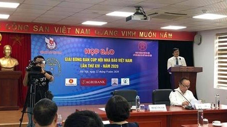 Tổ chức Giải bóng bàn cúp Hội Nhà báo Việt Nam lần thứ XIV