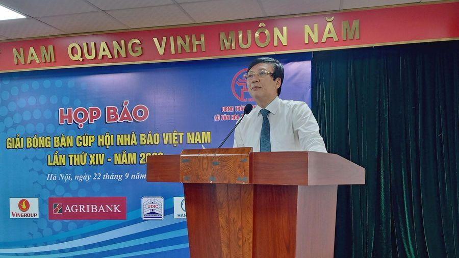 Hơn 200 vận động viên tham gia Giải Bóng bàn Cúp Hội Nhà báo Việt Nam 2020