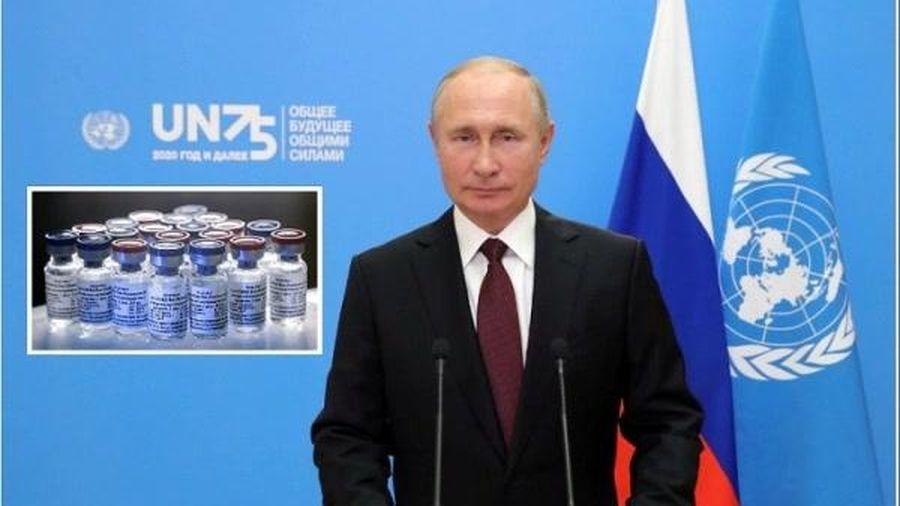 Ông Putin đề nghị cấp vaccine ngừa Covid-19 miễn phí cho Liên hợp quốc