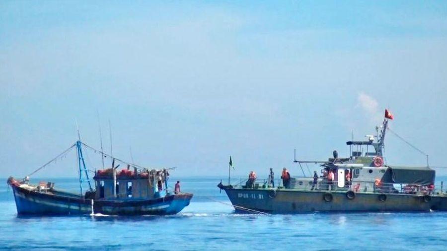 Phát hiện, tạm giữ tàu cá khai thác hải sản sai tuyến