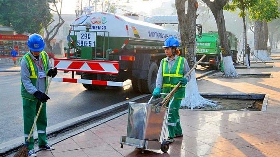Hà Nội: Đảm bảo công tác vệ sinh, chiếu sáng phục vụ Đại hội XVII Đảng bộ Thành phố