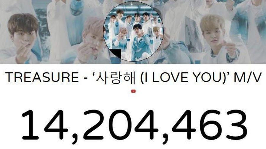 Treasure càn quét các BXH nhạc số nhờ ca khúc I Love You vừa phát hành, cho thấy sức mạnh của gà nhà Big 3 YG entertainment